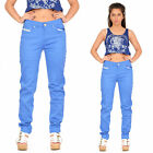 Slim Skinny Stretchy Fitted Trousers Coloured Jeans - Blue