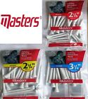 White Wooden MASTERS Golf Tees DRIVER 54mm, 70mm, 83mm (extra long) SALE PRICE!