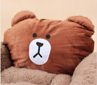 Cartoon Animal Frog Bear Pet Cat Small Dog Soft Bed Met House (S, XS,Brown)