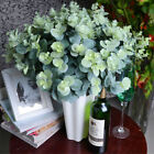 16 Heads Artificial Fake Leaf Eucalyptus Green Plant Leaves Flower Home Decor I