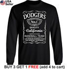 Los Angeles Dodgers Long T-Shirt Whiskey LA LAD Cotton JD Whisky Men on Ebay