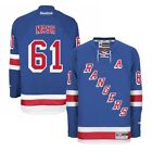 Rick Nash Reebok New York Rangers Official Home Blue Premier Jersey Mens