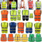 Внешний вид - Reflective Adjustable Safety Security High Visibility Vest Stripes Jacket Lot US