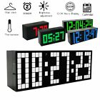 LED Digital Large Big Jumbo Snooze Wall Room Desk Calendar Alarm Clock 100-240V.