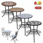 New Mosaic Bistro Cafe Table 60cm/ 2 Chairs Garden Patio Balcony Home Furniture