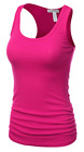 Women's RACER BACK Tank Top Light Weight Casual A-Shirt Basic Workout wrinkled