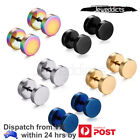 1 Pair Ear Piercing Fake Stretcher Plug Tunnel Surgical Steel Stud Punk Earrings
