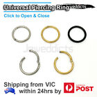 Hinged Ring Hoop Clicker Surgical Steel Septum Segment Ear Nose Lip Piercing