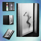 FROSTED GLASS BATHROOM DOOR FLIP PASSPORT COVER WALLET ORGANIZER
