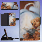 ACCESSORIES ALARM CLOCK BEARS BLUR FLIP WALLET CASE FOR APPLE IPHONE PHONES