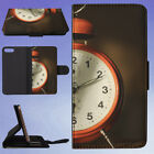 ALARM CLOCK ANALOGUE ANTIQUE CLASSIC 1 FLIP WALLET CASE FOR APPLE IPHONE PHONES