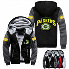 Winter Thicken Hoodie Team Green Bay Packers Warm Sweatshirt Lacer Zipper Jacket on eBay