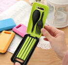 Plastic Cutlery Tableware Set Portable Spoon Fork Chopsticks for Travel Camping