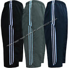 New Mens Summer Sports Running GYM 3/4 Elastic Jogging Stripe Short Pants S-XXL
