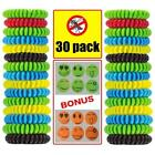 30 Lot Mosquito Repellent Bracelet Natural Waterproof Bug Insect Repeller Band
