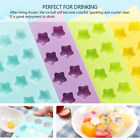 12 Slots Chocolate Jelly Mold Tray Bendable Non Stick Ice Cube Mould Freeze DIY