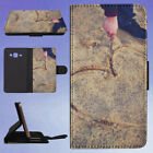HAND DRAWING HEART IN THE SAND FLIP CASE COVER FOR SAMSUNG GALAXY PHONE