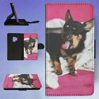 YAWNING DOG UNDER A BLANKET FLIP CASE COVER FOR SAMSUNG GALAXY PHONE