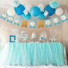 Gold Glitter Baby Shower Banner Garland Party Hanging Decor It's a Boy Girl Baby