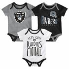 Oakland Raiders Infant Creeper Set NFL Little Tailgater 3-Piece Baby Outfit $30.0 USD on eBay