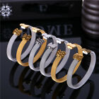 Women Cartoon Bear Series Chain Titanium Bracelet Steel Bangle Jewelry image