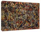 Jackson Pollock No 5 abstract paint RE PRINT ON WOOD FRAMED CANVAS WALL ART