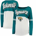 Jacksonville Jaguars T-Shirt Women's NFL Long Sleeve Varsity Tee $35.2 USD on eBay