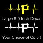 Pittsburgh Pirates Heartbeat Vinyl Decal/Sticker Large 8.5 Inch - Steelers Car on Ebay