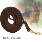 Heavy Duty Braided Leather Dog Leash Training and Walking for German Shepherd