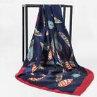 35'' Women's Scarf Head Hijab Floral Print Satin Square Shawl Long Wraps Stole