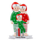 Pajama Family Personalized Christmas Ornament for Family of 3 - Personalized