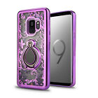 Galaxy S9 Case Liquid Bling Sparkle with Ring Girls Protect case