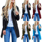 Womens Long Sleeve Womens Slouchy Cardigan Open Front Draped