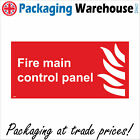 FIRE MAIN CONTROL PANEL SIGN FI008 SAFETY STICKER RIGID INDOOR OUTDOOR