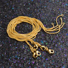 18k Gold Filled 1mm Snake Chain Clasp Choker Necklace Men Women Jewelry  16-30""
