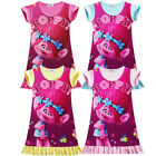 Trolls Poppy Kids Girls Toddler A-Line Dress Nightwear T shirt Cute Sleepwear  image