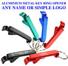 Personalized Wedding Favour Custom Engraved Key Ring Metal Bottle Opener