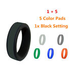 1 Set Hypoallergenic Silicone Rubber Wedding Bands Ring for Women Men Size 8-13