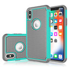 For iPhone 4 5 6 7 8 Plus SE XR XS Max Case Hybrid Shockproof Rubber Hard Cover