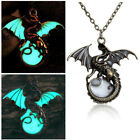 2018 Vintage Fashion Punk Glow In The Dark Dragon Pendant Chain Necklace Jewelry