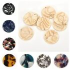 5pcs Earrings Round Pendants Charms Accessories For Jewelry DIY Making Findings