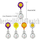 Cute Cartoon Smile Smiley Face Quartz Fob Ladies Pocket Nurse Watch Clip On image