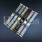 20 MM Submariner Watch Band Bracelet Shiny Satin Silver Oyster Fits For Rolex image