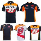 Marc Marquez 93 Moto GP Racing Repsol Polo T-Shirt Racewear For Motocross Bike