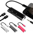 3in1 Dual 8pin Adapter Headphone Jack Splitter Audio Cable For iPhone X 8 7 Plus