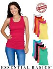 Junior 100% Cotton Racerback Lightweight Active Workout Tank Top Assorted 5 PK