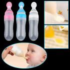 90ML Silicone Baby Squeeze Feeding Bottle With Spoon Food Rice Cereal Feeder UK