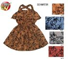 Girls New Floral Kids Princess Frill Strappy with side pockets Dresses Age 3-6Y