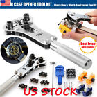 US Watch Repair Tool Kit and Spring Watchmaker Back Case Opener Remover Pin Bars image