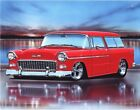 1955 Chevy Nomad Hot Rod Car Art Print 11x14 Poster